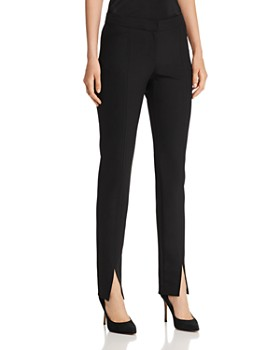 Lafayette 148 New York - Waldorf Front-Slit Slim-Leg Pants