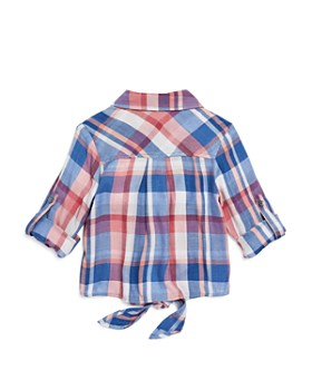 Bella Dahl - Girls' Knotted Plaid Shirt - Little Kid, Big Kid