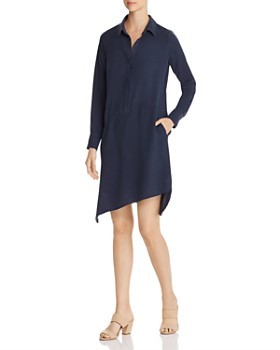 Go by Go Silk - Asymmetric-Hem Shirt Dress