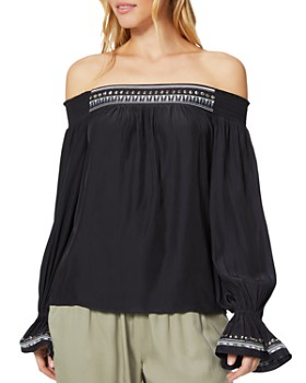 Ramy Brook - Koda Embroidered Off-the-Shoulder Top