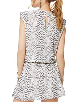 Ramy Brook -  Printed V-Neck Silk Blend Mini Dress