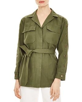Sandro - Bari Belted Snap-Detail Jacket