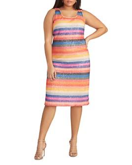 Rachel Roy Plus - Caroline Sequin Rainbow Dress