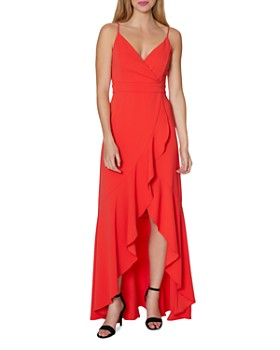 Laundry by Shelli Segal - Ruffled High/Low Gown
