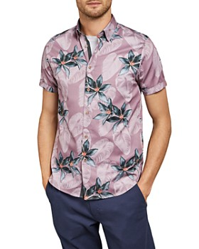 Ted Baker - Myles Tropical Print Slim Fit Shirt