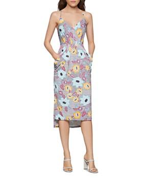 BCBGENERATION - Floral Faux-Wrap Midi Dress