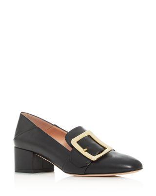 Janelle Block-Heel Loafers