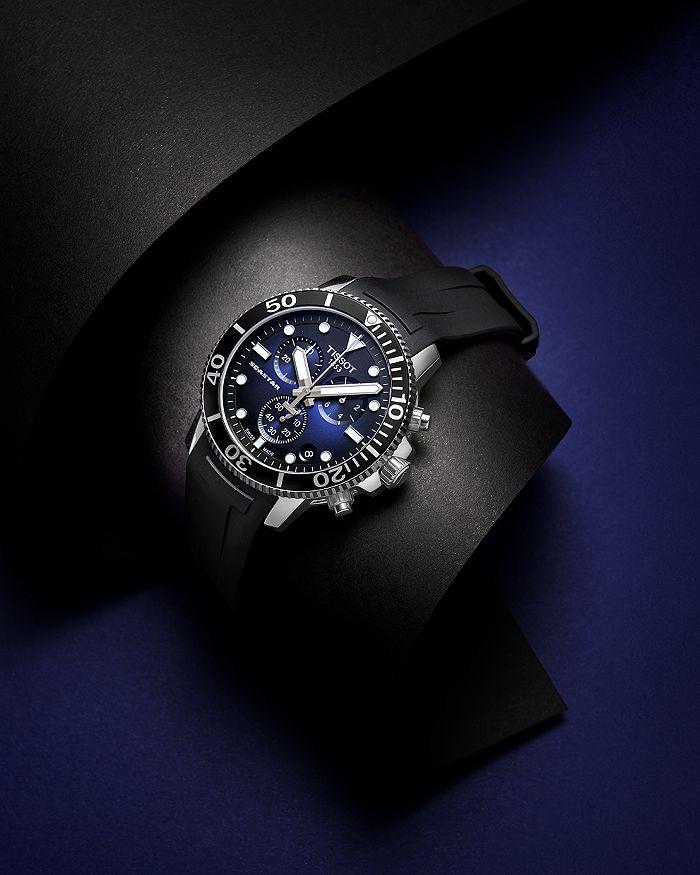 Seastar 1000 Blue Dial Black Rubber Strap Chronograph 45 5mm
