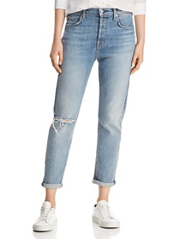 7 For All Mankind - Josefina High-Waist Cropped Boyfriend Jeans