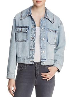 Current/Elliott - The Sammy Studded Denim Jacket