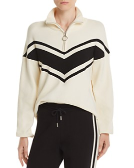 Notes du Nord - Madison Zip Chevron Sweater