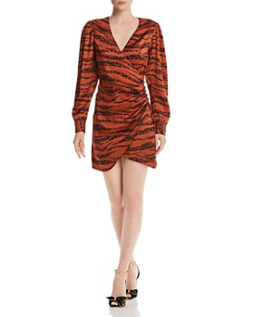 Anine Bing - Penelope Tiger Print Silk Mini Dress