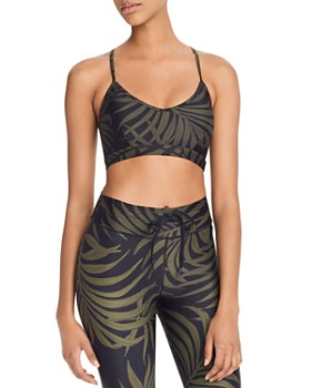 THE UPSIDE - Leaf Print Sports Bra - 100% Exclusive