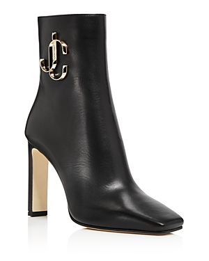 Jimmy Choo Women's Minori 100 Square Toe Booties In Black
