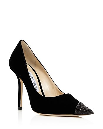 Jimmy Choo - Women's Love 100 Embellished Pointed Toe Pumps
