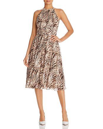 Elie Tahari - Dominica Zebra-Print Dress