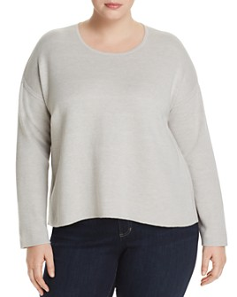 Eileen Fisher Plus - Reversible Boxy Sweater