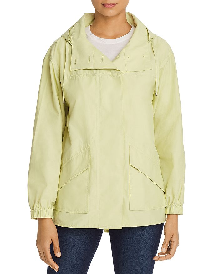 Eileen Fisher HOODED MID-LENGTH JACKET