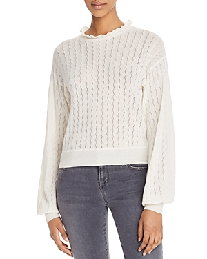 Joie Sweaters HADAR POINTELLE-STITCHED SWEATER