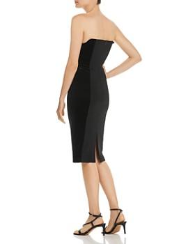 Black Halo - Lena Strapless Velvet-Inset Dress