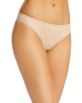 Calvin Klein - Liquid Touch Lace-Trimmed Thong