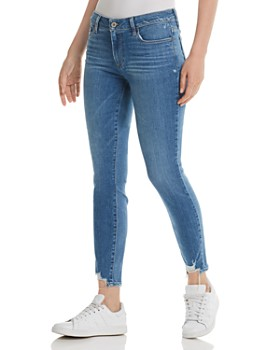 PAIGE - Verdugo Skinny Jeans in North Star Distressed