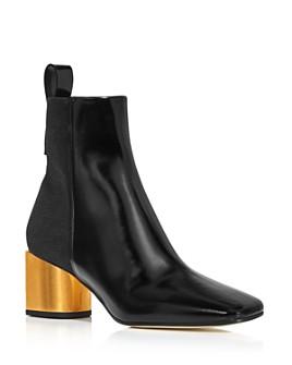 Proenza Schouler - Women's Square Toe Leather Booties