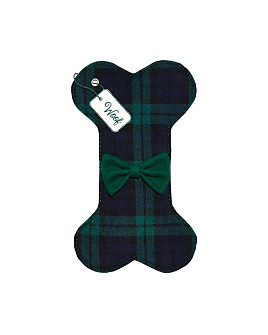 Bloomingdale's - Plaid Flannel Dog Bone Stocking - 100% Exclusive