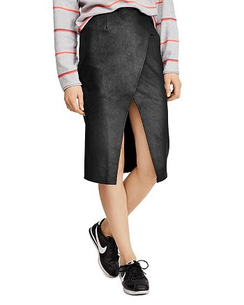 Free People - Whitney Faux Leather Pencil Skirt