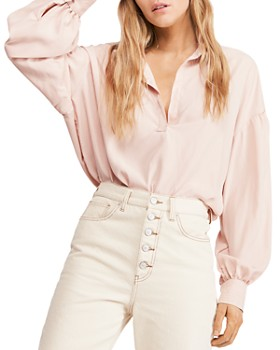 Free People - Love Until Tomorrow Balloon-Sleeve Top