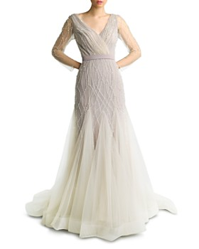 Basix - Embroidered Tulle Mother of the Bride Gown