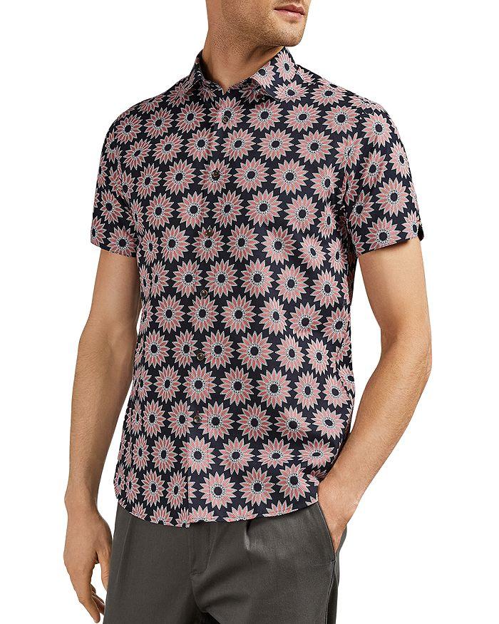 Ted Baker - Spunge Flower Print Slim Fit Shirt
