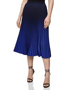 REISS - Marlie Ombré Pleated Skirt