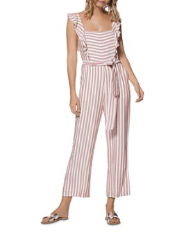PAIGE - Marino Sleeveless Striped Cropped Jumpsuit