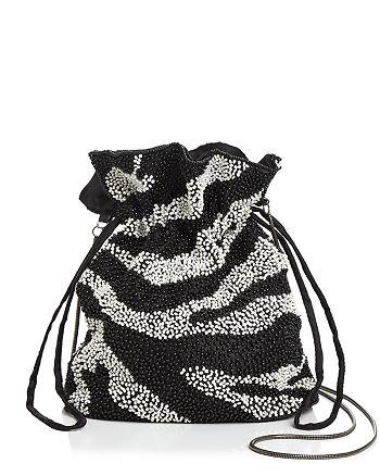 AQUA - Tilly Zebra Beaded Pouch - 100% Exclusive