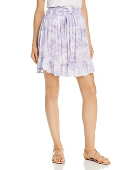 Tiare Hawaii - Lily Rose Shirred Tie-Dyed Mini Skirt