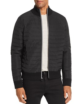 Michael Kors - Mixed-Media Quilted Bomber Jacket