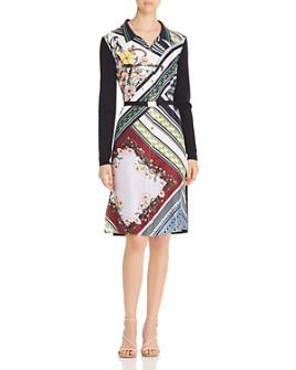 Tory Burch - Merino Wool & Silk Mixed-Media Shirt Dress