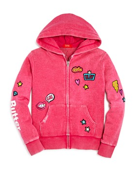 Butter - Girls' Girl Power Patches Hoodie, Big Kid - 100% Exclusive
