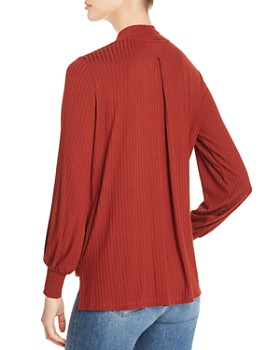 Single Thread - Ribbed Wrap-Front Top