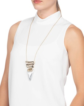 Alexis Bittar - Hinged Lucite Pendant Necklace, 32""