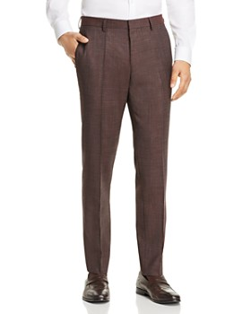 BOSS - Genius Textured Melange Slim Fit Dress Pants