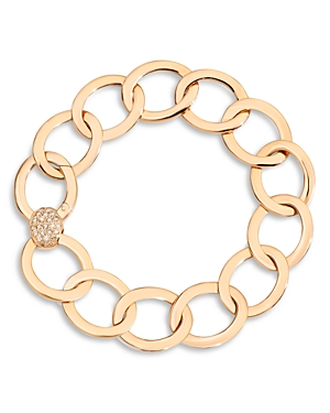 db188523041d5 Pomellato 18K Rose Gold Brera Chain Link Bracelet With Brown ...