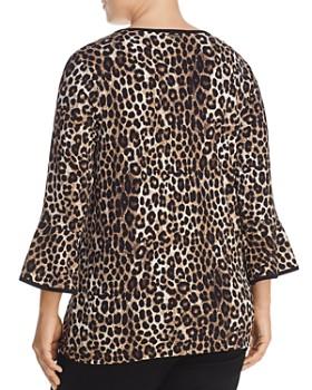 MICHAEL Michael Kors Plus - Leopard-Print Bell-Sleeve Top