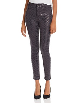 Joe's Jeans - The Charlie Ankle Jeans in Charcoal Foil Zebra - 100% Exclusive