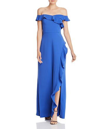 BCBGMAXAZRIA - Eve Ruffled Off-the-Shoulder Gown