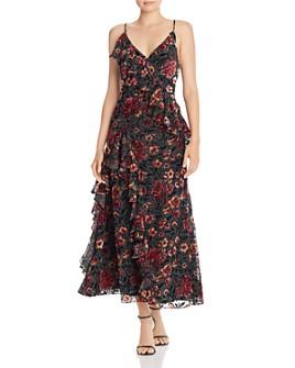 Jill Jill Stuart - Cascading Ruffle Maxi Dress