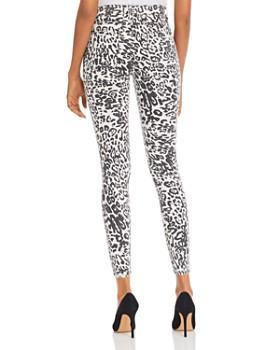Hudson - Barbara Skinny Jeans in Washed Leopard