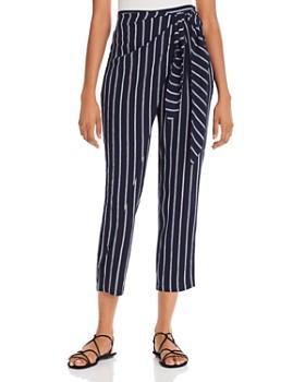 AQUA - Printed Tie-Front Pants - 100% Exclusive