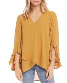 Karen Kane - Ruffle-Sleeve Crossover Top